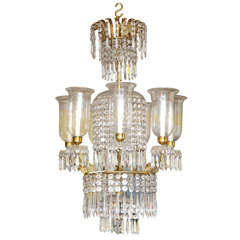 Regency Antique Ormolu and Cut Glass Chandelier, English, circa 1820