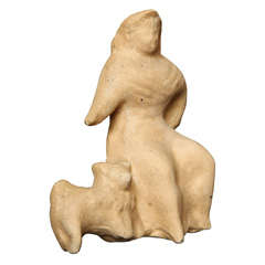 "Elie Nadelman Sculpture ""Seated Woman & Poodle"" American, circa 1934"