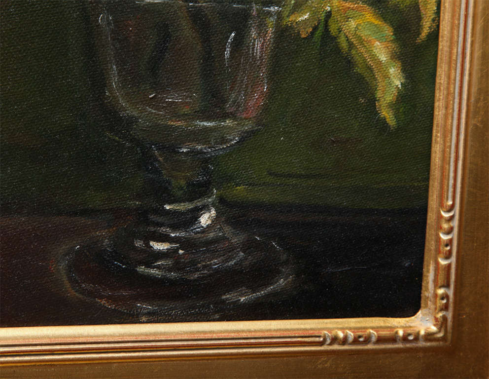 """Still Life  """"Yellow & Pink roses in a glass vase"""" 5"""