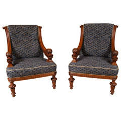 Pair of 19th Baroque Armchairs