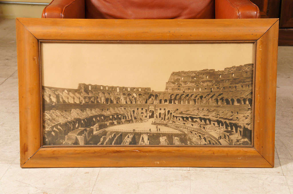 Early 20th Century photo of the Coliseum in handsome wood frame