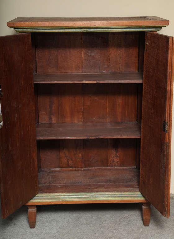 Vintage javanese hand carved teak cabinet at 1stdibs for Carved kitchen cabinets