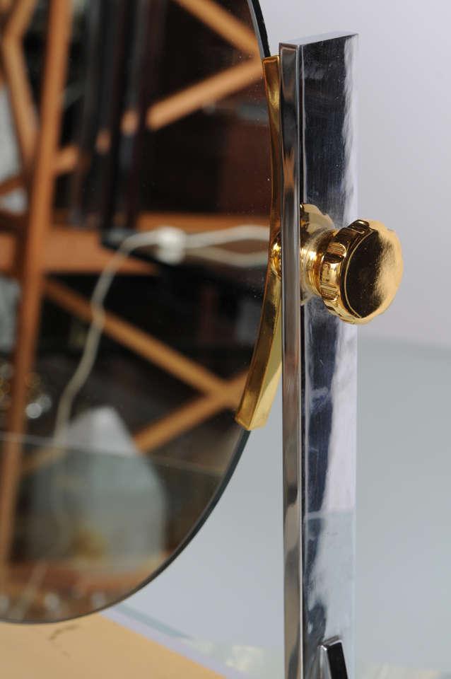 Karl Springer Mixed-Metals Vintage Vanity Mirror 4