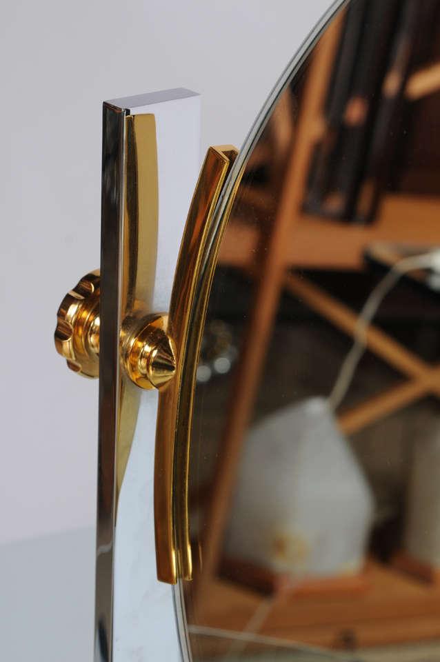 Karl Springer Mixed-Metals Vintage Vanity Mirror 6