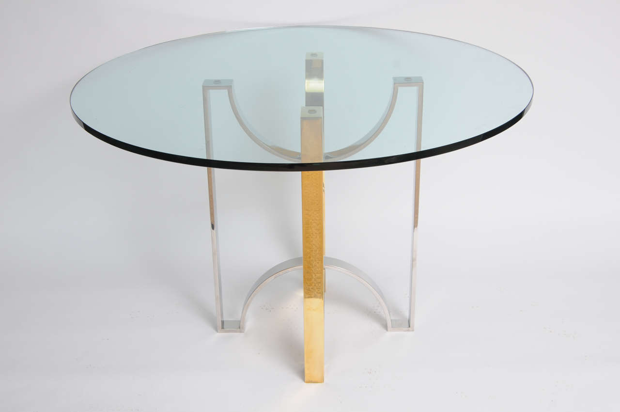 Foyer Table For Sale : Solid brass and steel ribbon design foyer table for sale