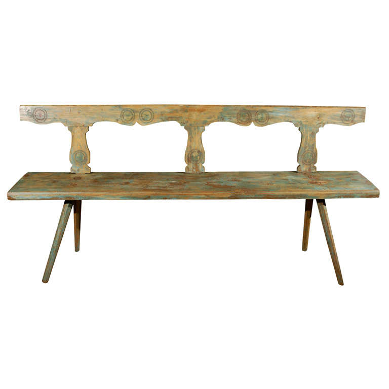Antique Country Bench At 1stdibs