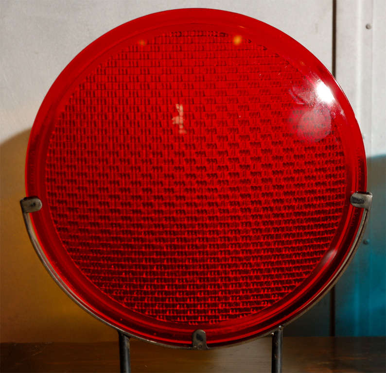 Railroad Signal Lens Mounted on Stand