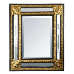 Venetian Gilded Brass Cushion Mirror