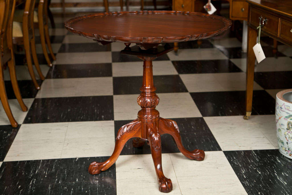 Carved Mahogany Tilt Top Pie Crust Table 2