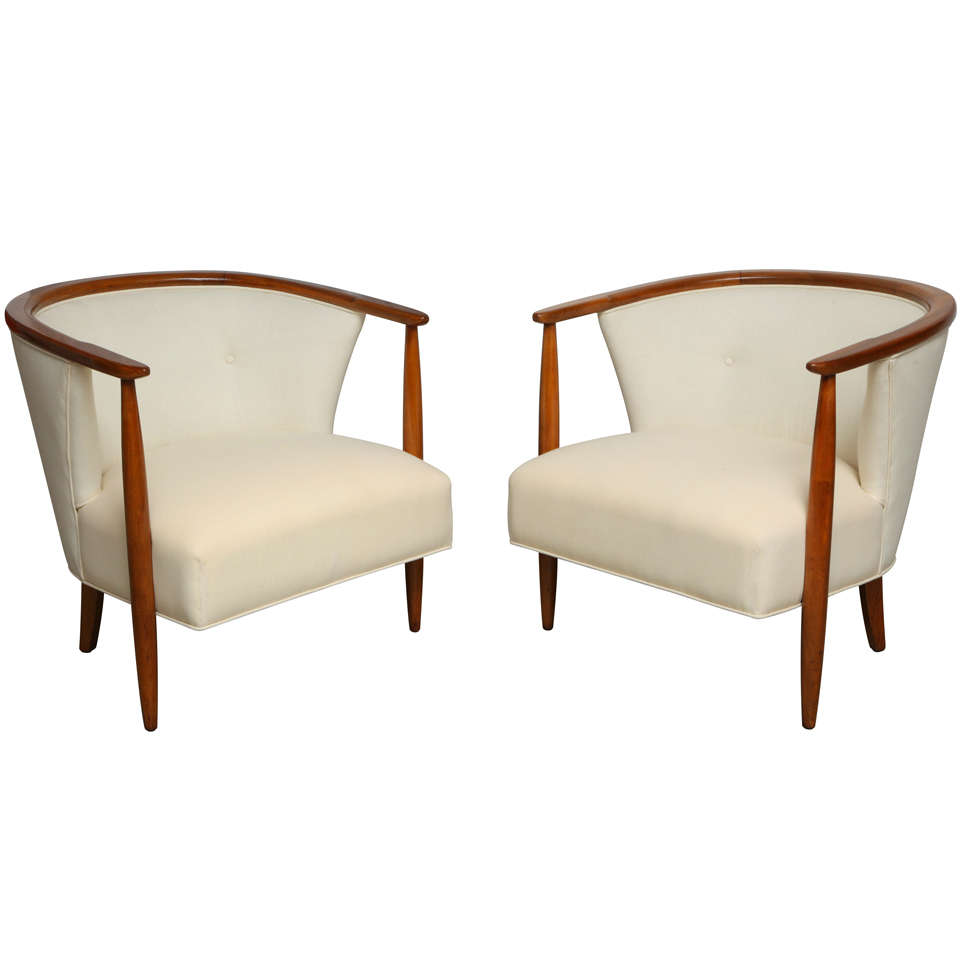Pair Of Mid Century Tub Chairs At 1stdibs