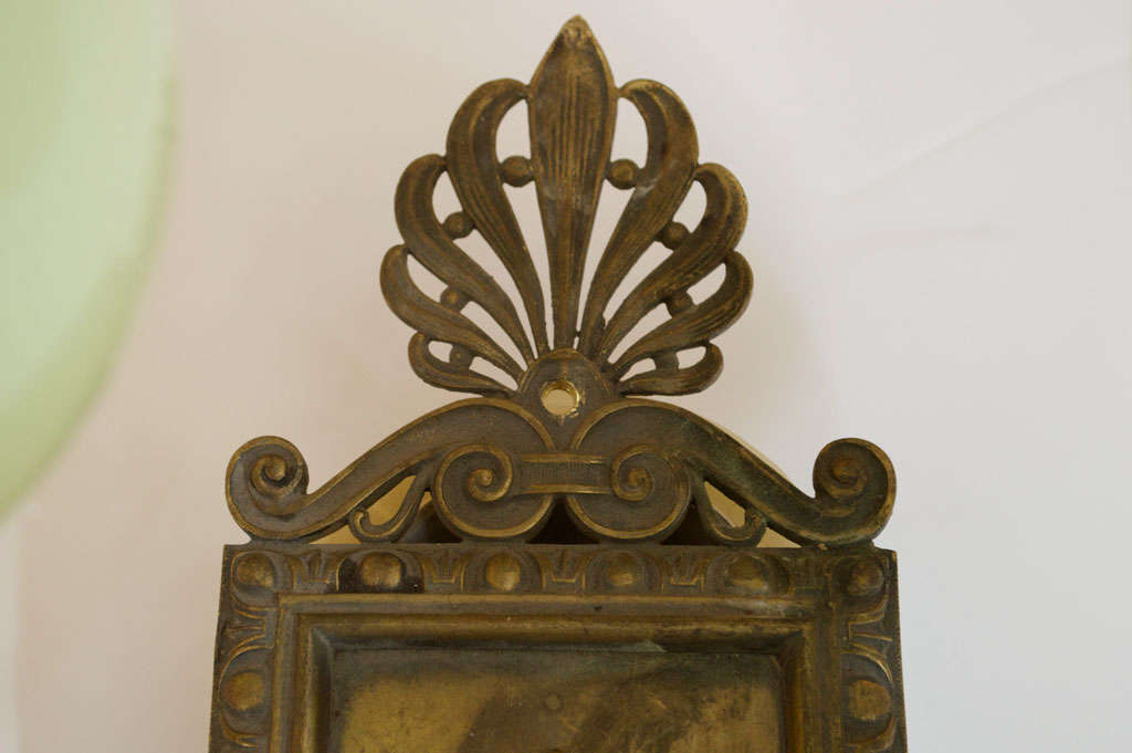 Pair of Antique Bronze Two-Arm Sconces For Sale 1