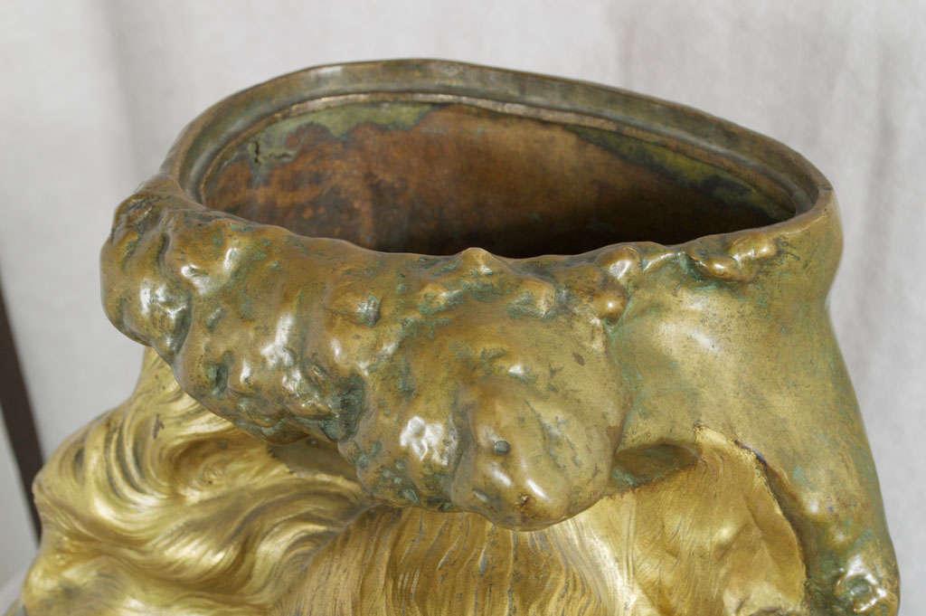 Antique Art Nouveau Bronze Vase 3