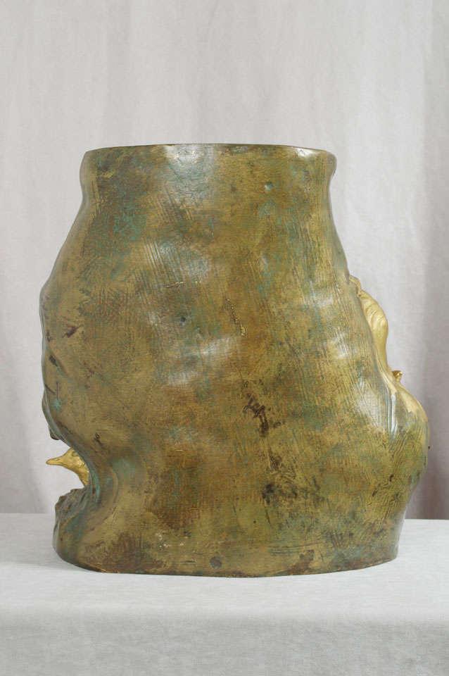 Antique Art Nouveau Bronze Vase 6