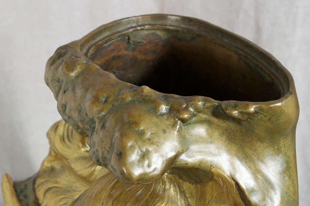 Antique Art Nouveau Bronze Vase 9