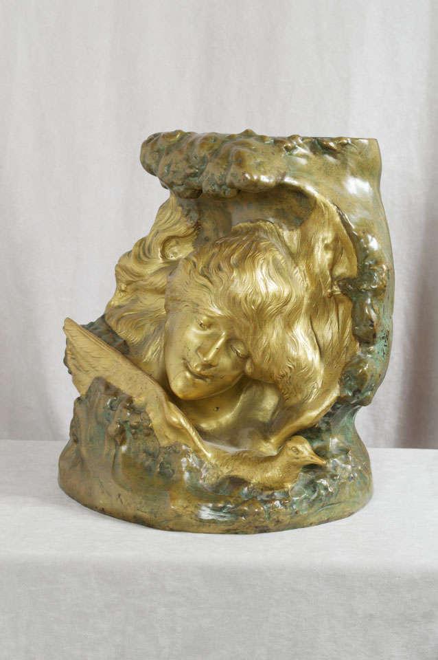 Antique Art Nouveau Bronze Vase 10