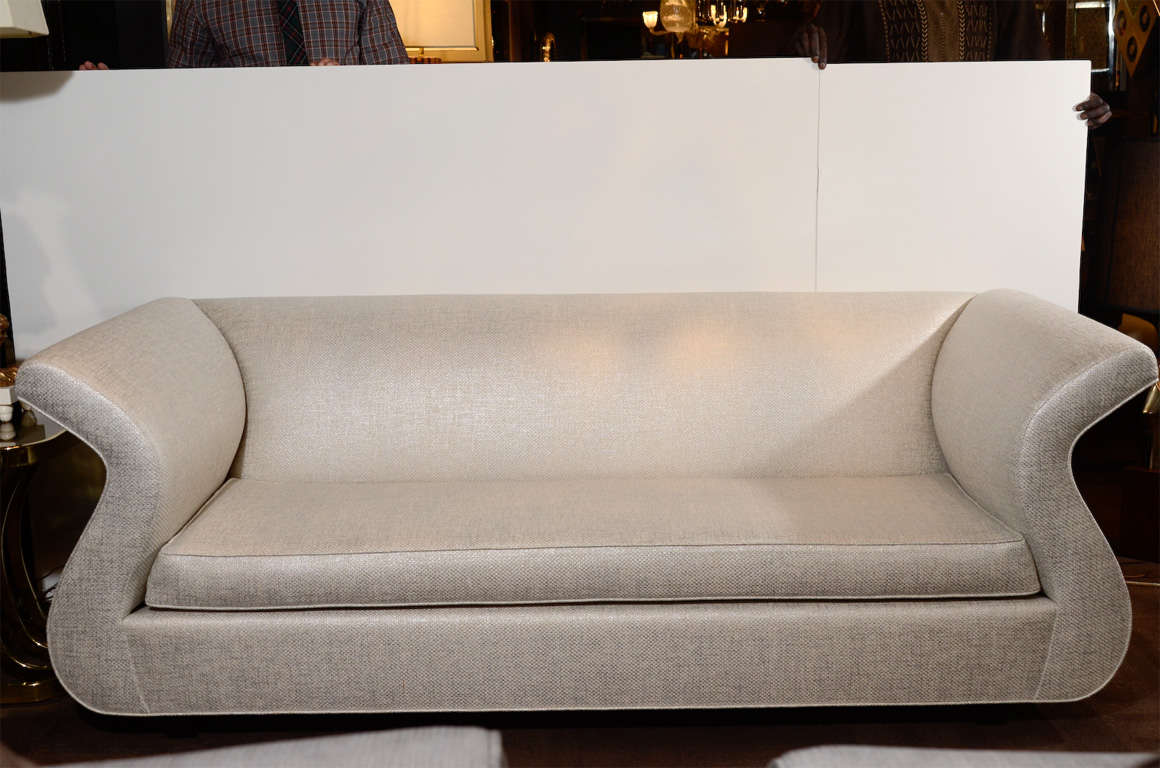 Late 20th Century Dialogica Hollywood Regency Sofa Designed by Sergio Savarese For Sale