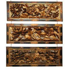 Japanese wood carving panel (Ranma)