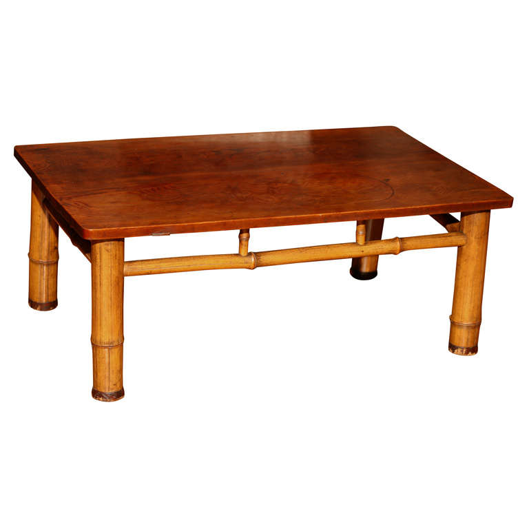 Japanese Sugi Wood Table For Sale At 1stdibs