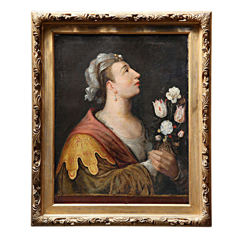 Period Oil Painting of a Castrato Performer