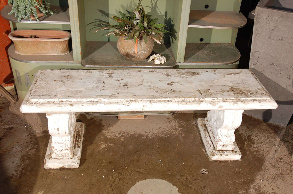 Cast Stone Bench At 1stdibs
