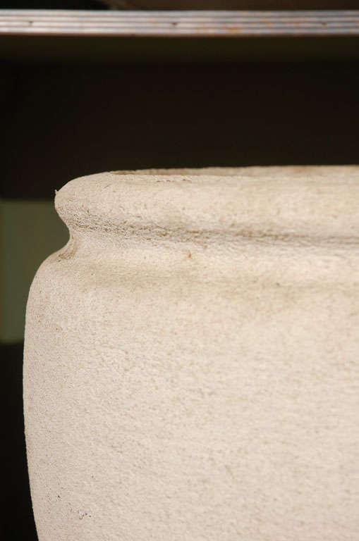 Contemporary Round Concrete Urn Planters For Sale