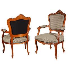 Antique Pr LXV Style Arm Chairs