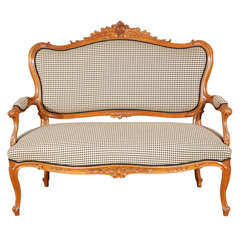 Antique napoleon iii faux bamboo canape at 1stdibs - Canape style vintage ...