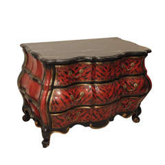 SATURDAY SALE Extravagant Lacquered Bombe Chest
