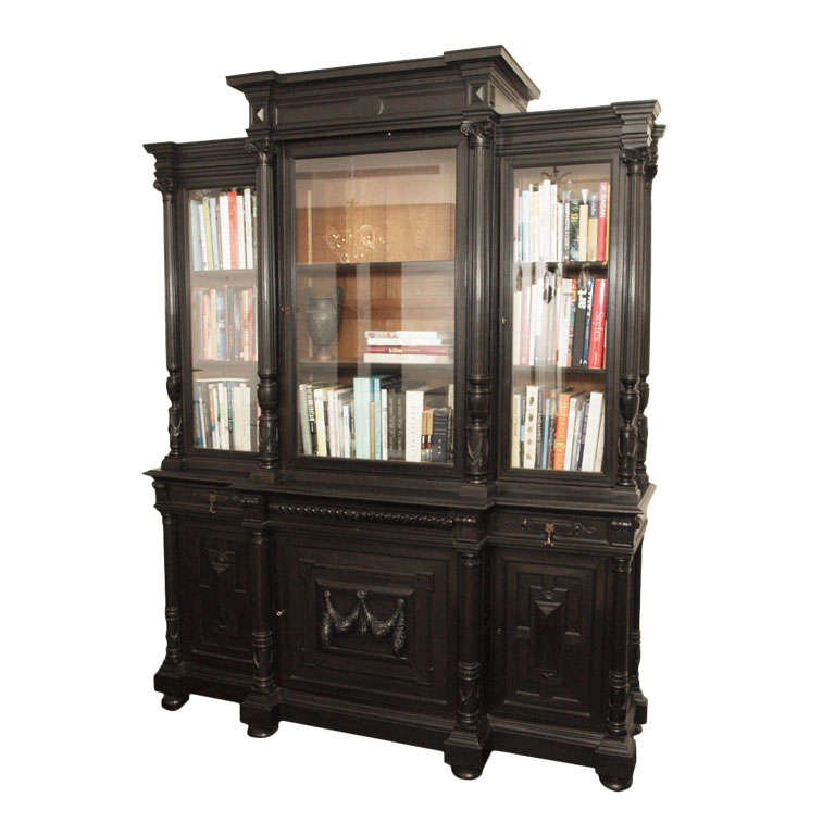 impressive napoleon iii breakfront bibliotheque at 1stdibs. Black Bedroom Furniture Sets. Home Design Ideas
