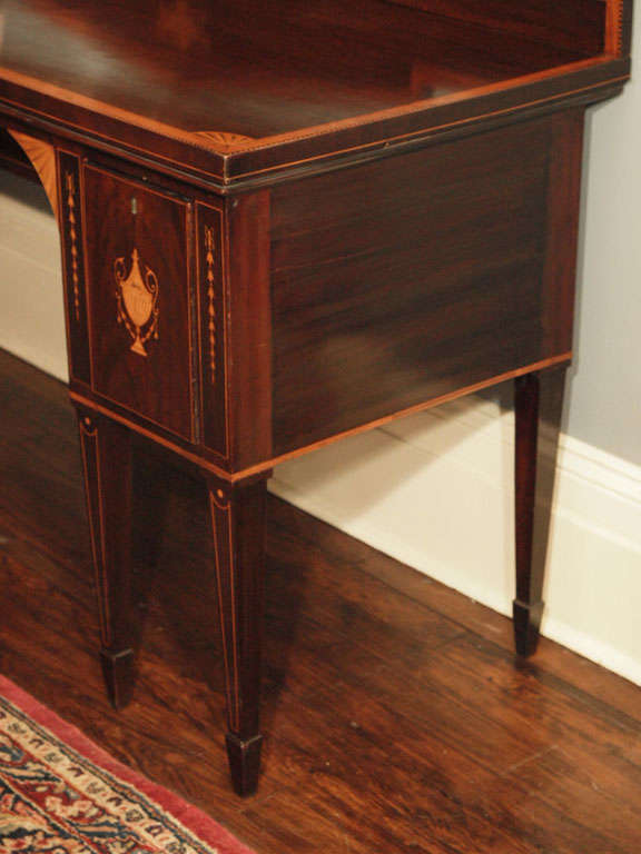 Antique Sheraton Style Mahogany Sideboard With Satinwood Inlay For Sale At 1stdibs