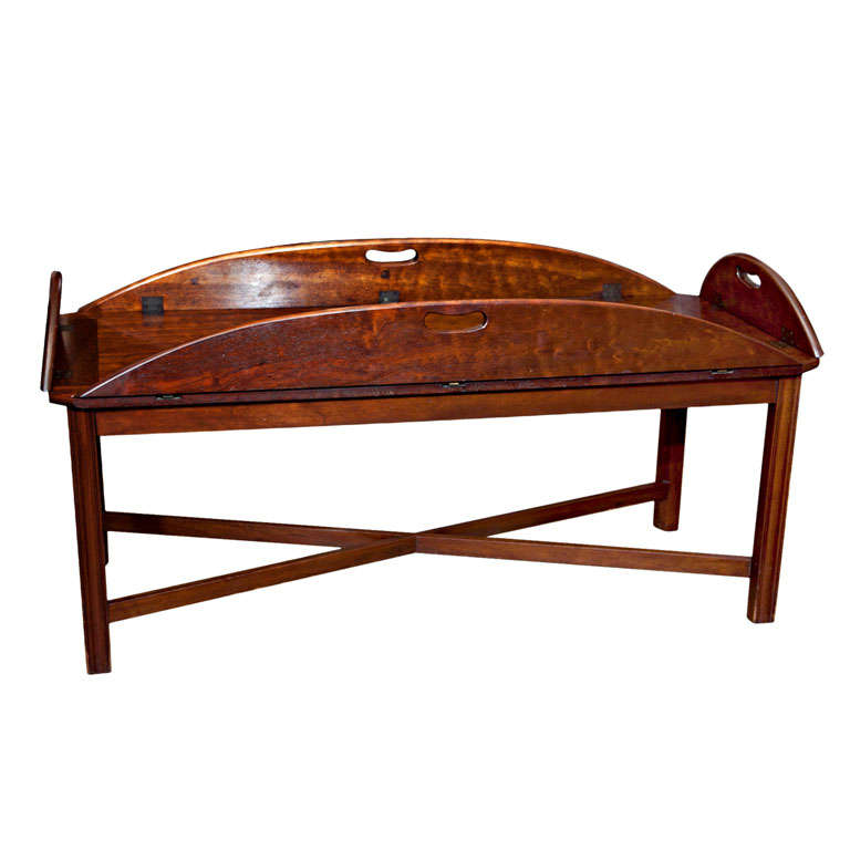 Extra Long  Butler's Tray On Stand