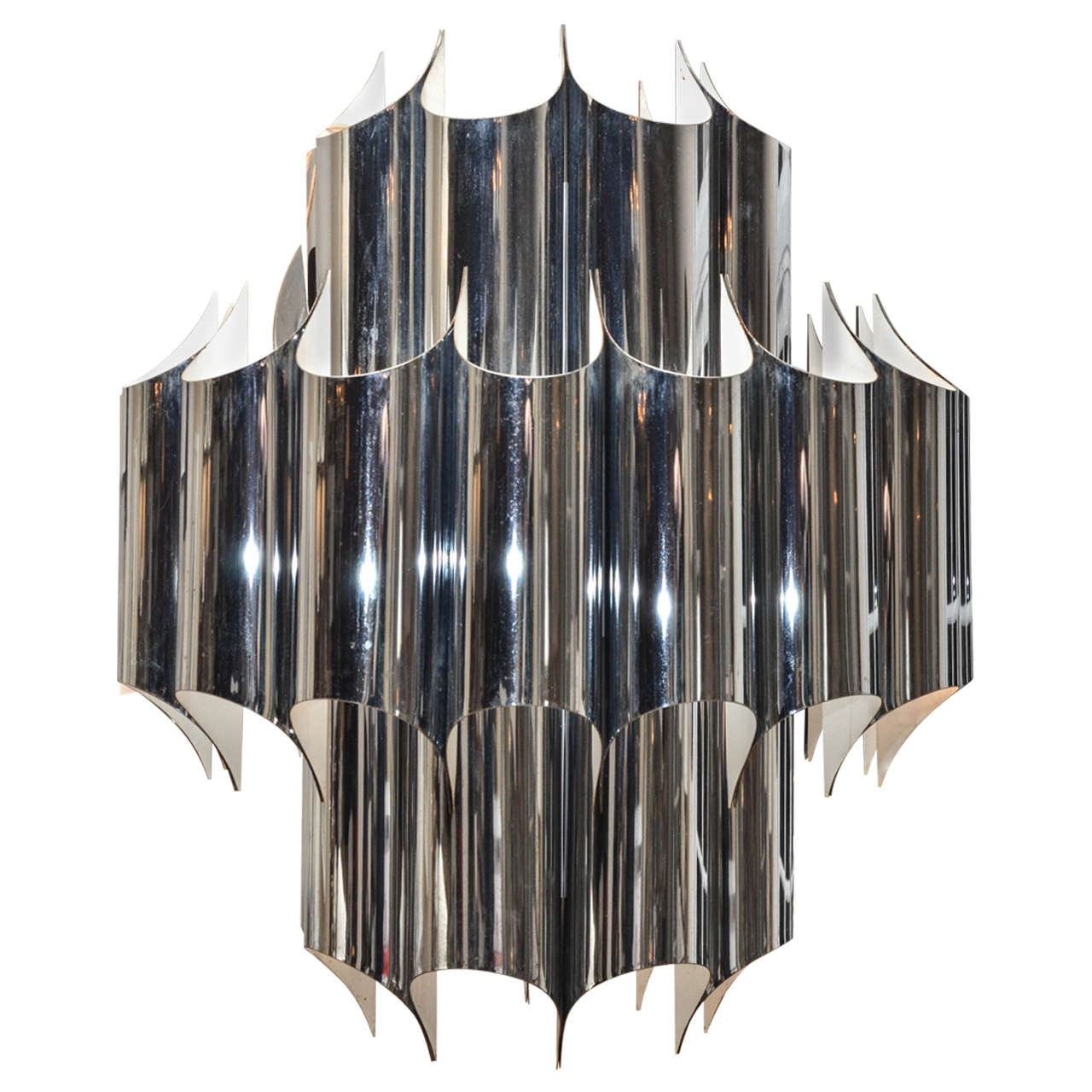 Fabulous vintage chrome and plated steel chandelier by robert fabulous vintage chrome and plated steel chandelier by robert sonneman at 1stdibs arubaitofo Gallery