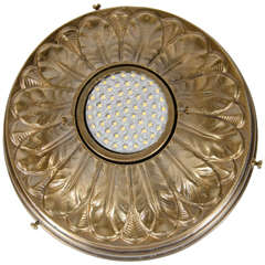 Hollywood Regency Acanthus Style Patinated Brass Spotlight