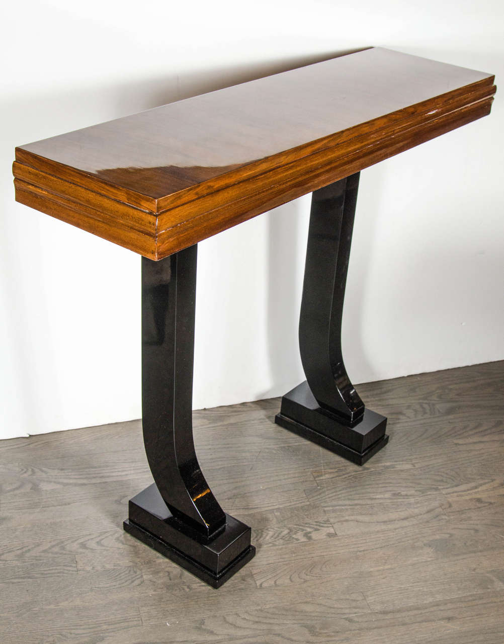 Art Deco Console Table With Scroll Leg Design For Sale At 1stdibs