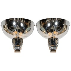 Pair of Art Deco Skyscraper Style Sconces in the Manner of Jean Perzel