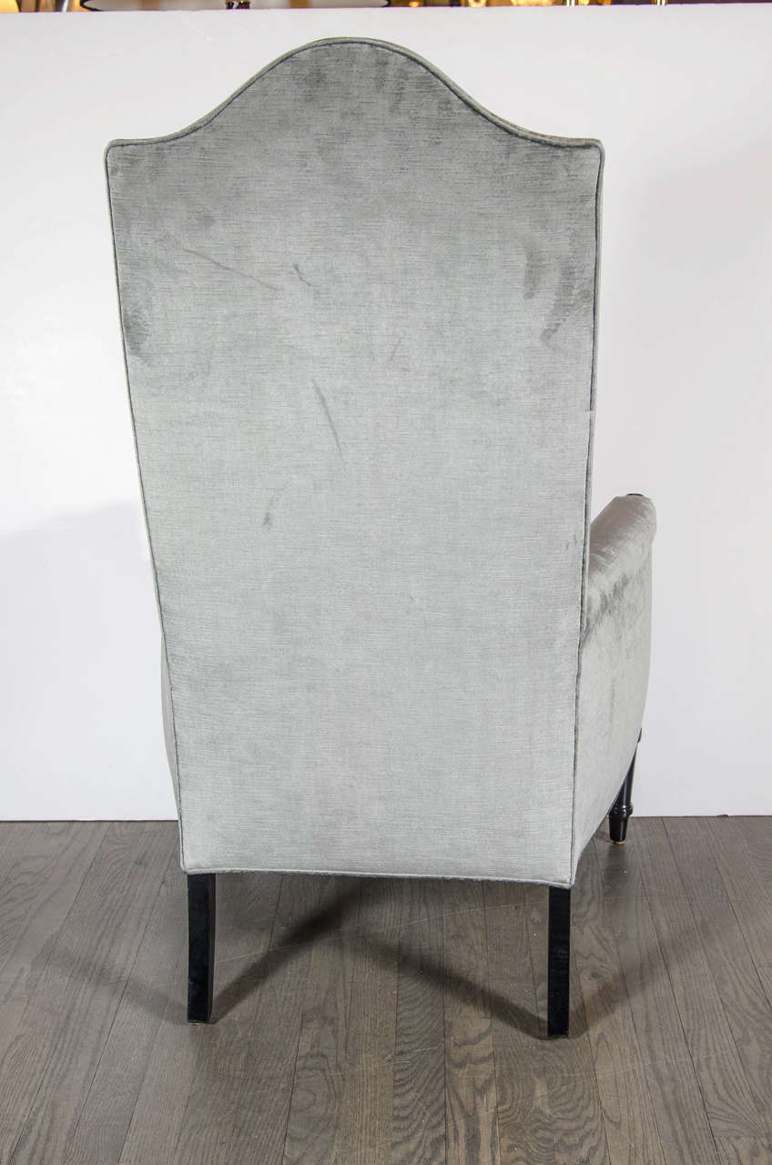 Pair of Mid-Century Modernist Occasional Chairs in the Manner of James Mont For Sale 2