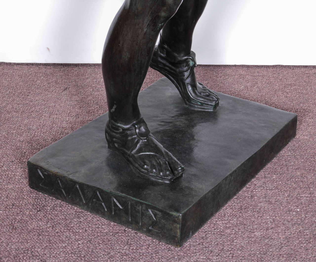 Large, Original Bronze Fully Nude Male