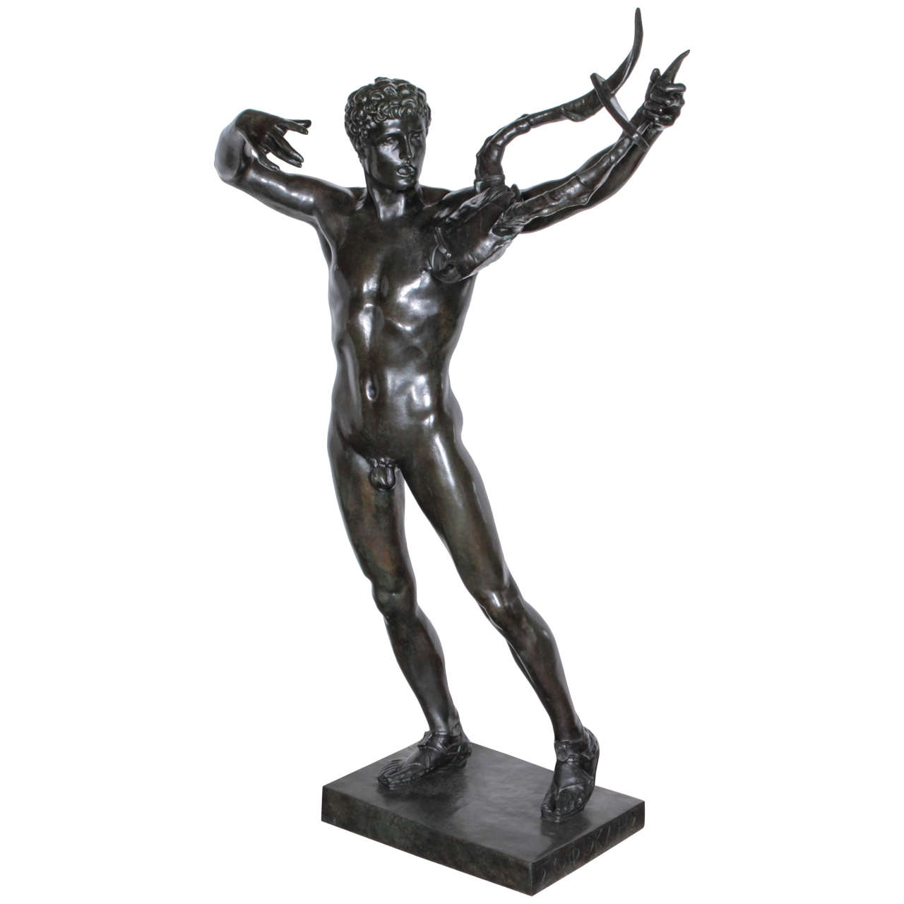 "Large, Original Bronze Fully Nude Male ""Sophocles"" by John Talbott Donoghue"
