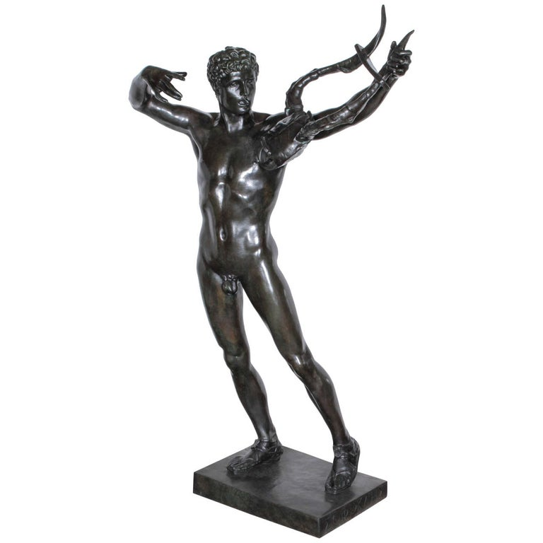 """Large, Original Bronze Fully Nude Male """"Sophocles"""" by John Talbott Donoghue For Sale"""