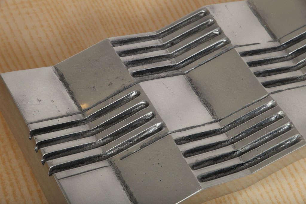Aluminum Arnaldo Gamba 'Credo' Decorative Plate For Sale