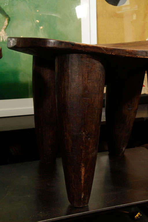 Hand Carved Stools Made From One Solid Piece Of Wood For