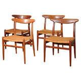 4 Hans Wegner Dining Chairs
