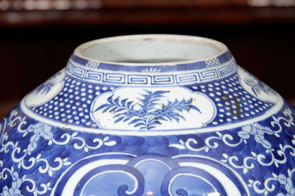 Chinese Blue and White Porcelain Jar For Sale 3