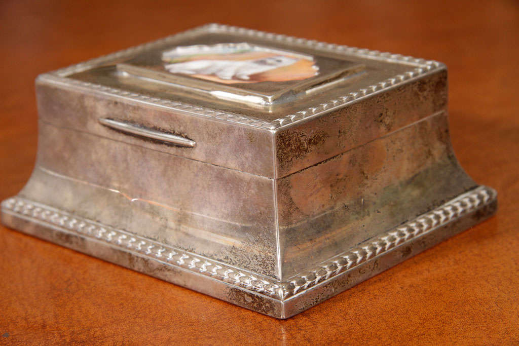 English Silver Box For Sale