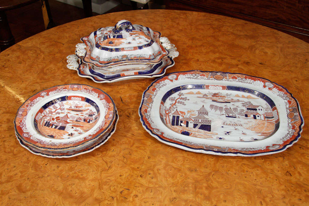 19th Century Masons Ironstone Dinner Service 2