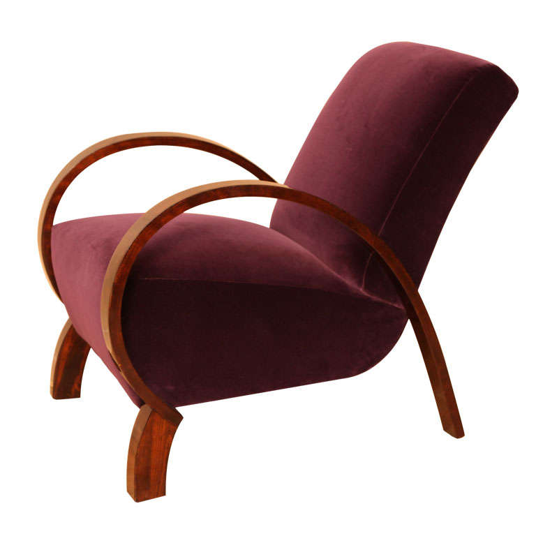 Elegant Art Deco Armchair At 1stdibs