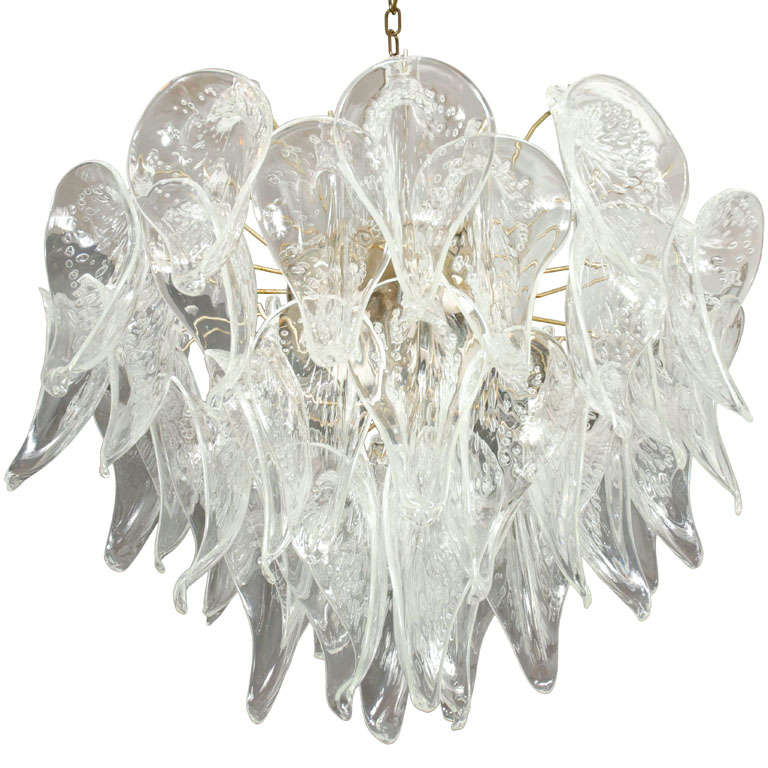 Crystal Calla Lily Petal Bouquet Chandelier by Camer Glass at 1stdibs