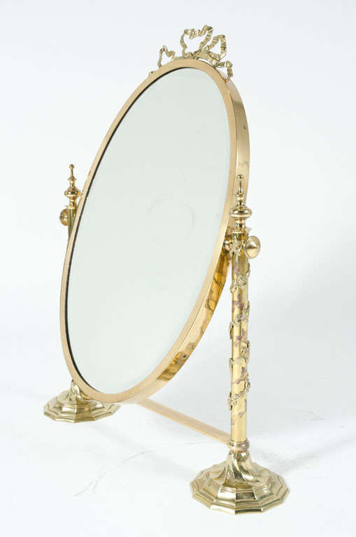 fancy italian looking glass vanity mirror for sale at 1stdibs