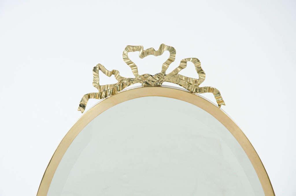 Fancy Italian Looking Glass Vanity Mirror For Sale 1