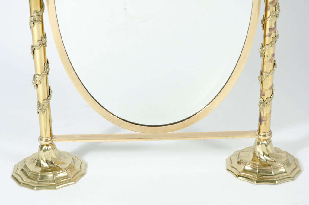 Fancy Italian Looking Glass Vanity Mirror For Sale 2